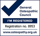 our practitioners are registered with the General Osteopathic Council